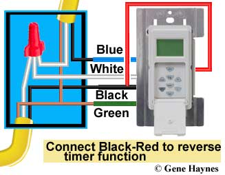 How to wire GE 15312 Sunsmart timer for Single pole & 3-way Ge Wiring Diagram Single Pole on