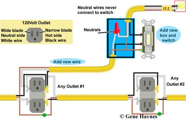 wire switch to outlet