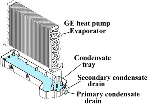 GE heat pump condensate drain