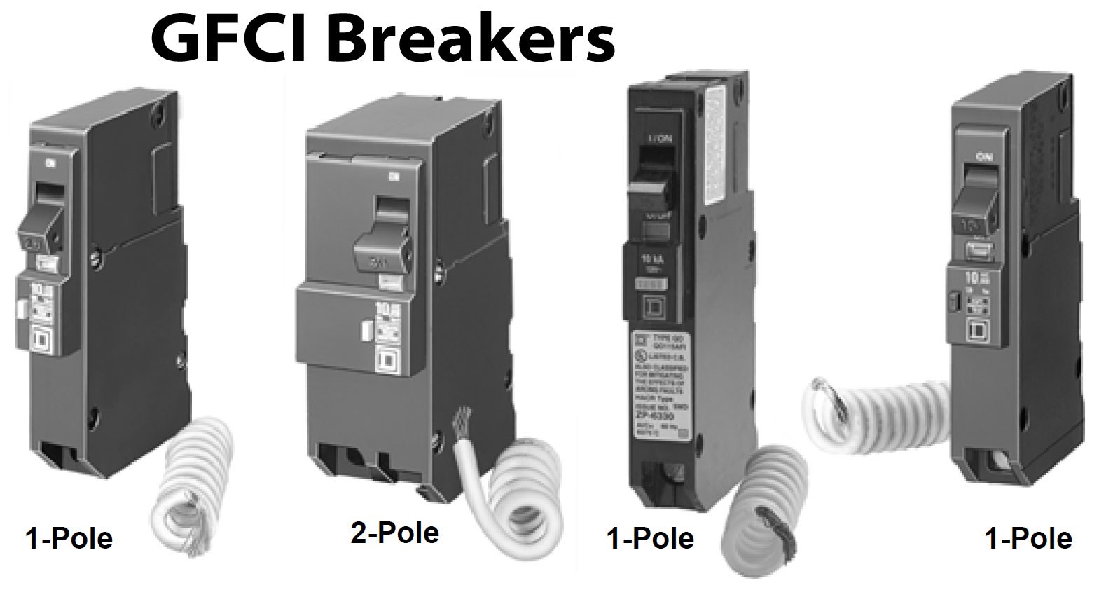 GFCI circuit breakers. Larger image