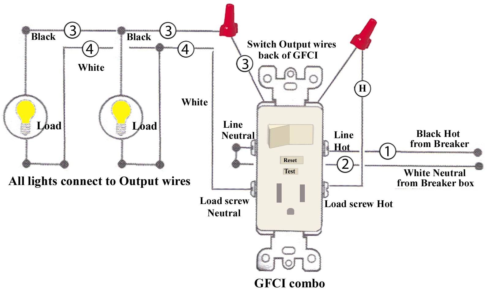 How To Install And Troubleshoot Gfci Basic Wiring Diagram Pdf Also Bathroom Fan Light Larger Image Step 7 If There Are More Wires In The Box