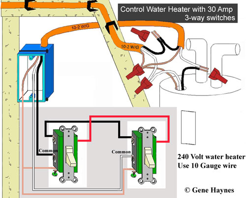 control water heater using 30 amp switch 1990 Volvo 240 Wiring-Diagram