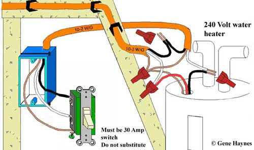 how to wire water heater switches timers water heater switch