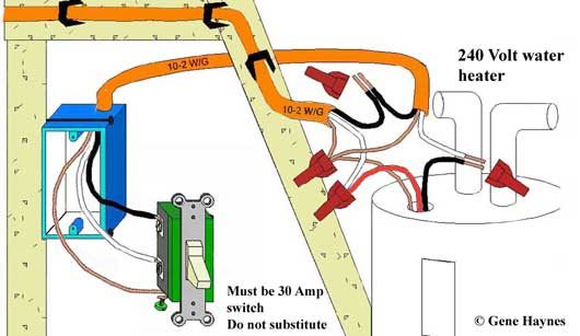 water heater switch