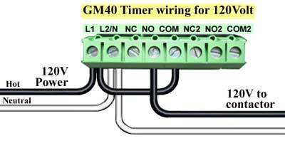 GM40 timer wiring