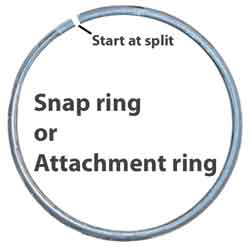 Garbage disposal snap ring