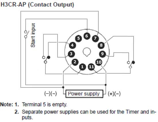 How to wire H3CR timer Omron On Delay Timer Wiring Diagram on