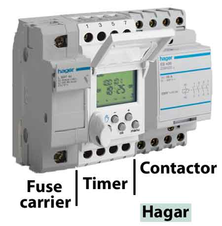 Timer To Contactor Wiring Diagram Fuse Holder Timer Contactor