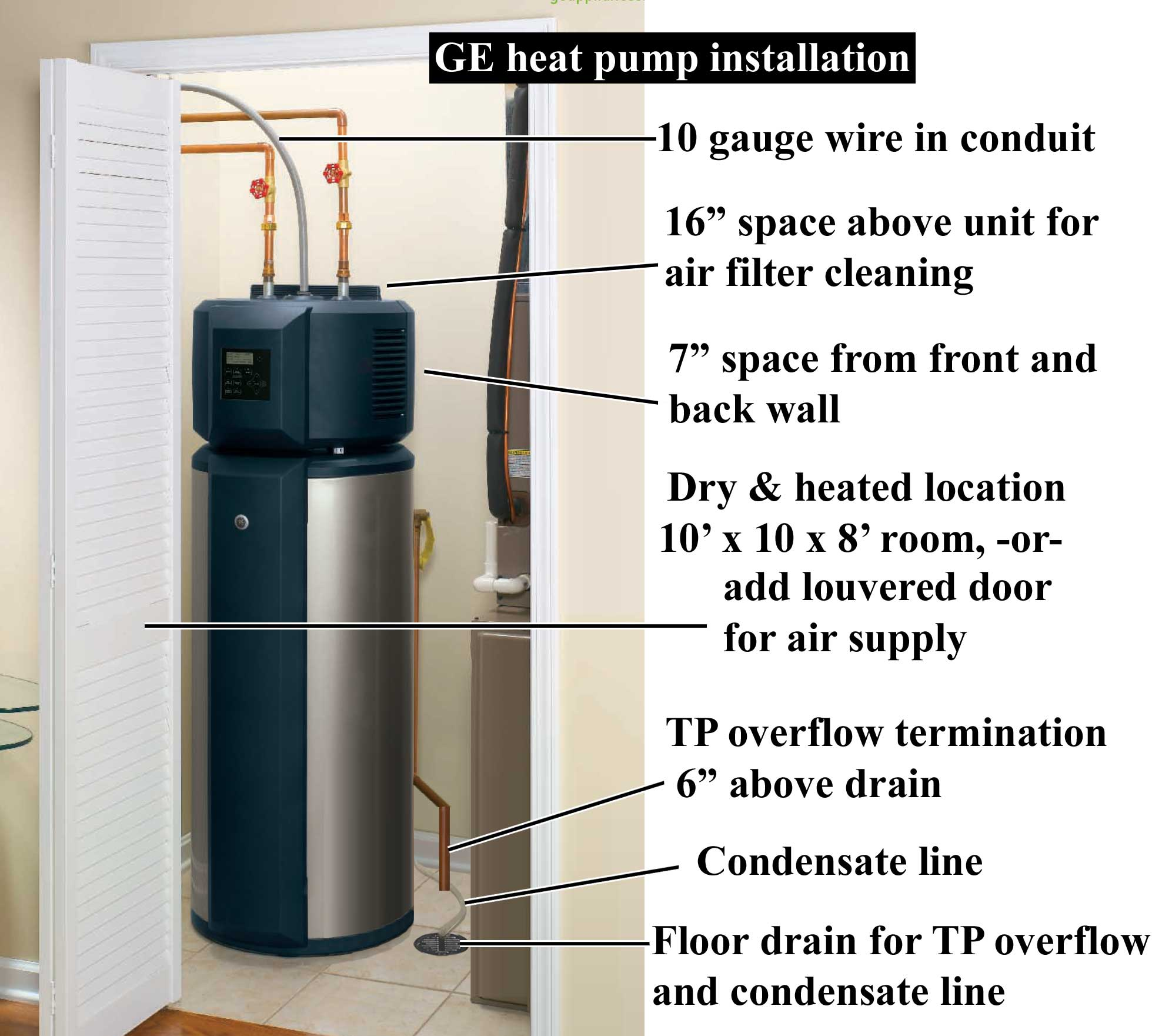 Heat pump installation 1000 review ge heat pump water heater wiring diagram for a ge water heater at fashall.co