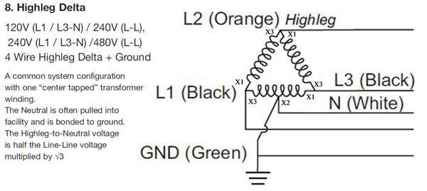 what is high leg delta rh waterheatertimer org
