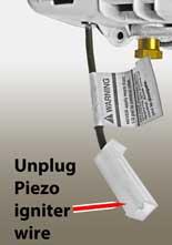 Honeywell gas control piezo igniter