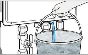 How to drain tankless