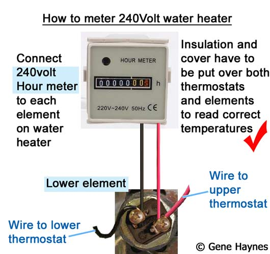 How to meter 240Volt water heater