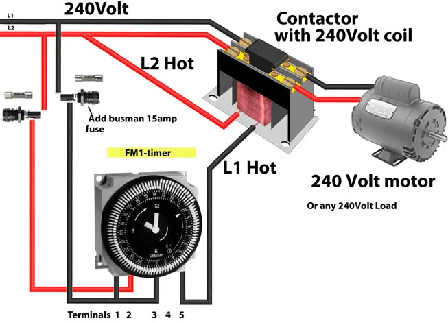 How to wire Intermatic FM1 timer 600 how to wire timers contactor wiring diagram with timer pdf at readyjetset.co