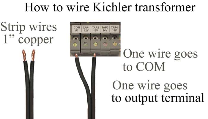 How to wire Kichler transformer
