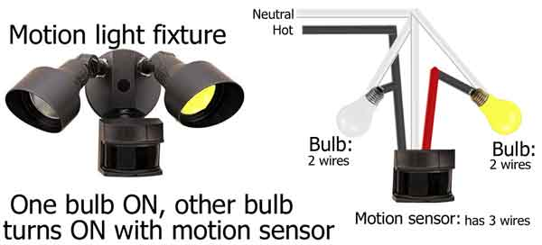How to wire occupancy sensor and motion detectors how to wire motion sensor light so 1 bulb on and other bulb turns on with motion sensor asfbconference2016 Gallery