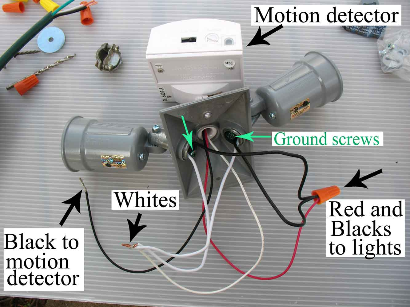 wire motion detector. Larger image ...