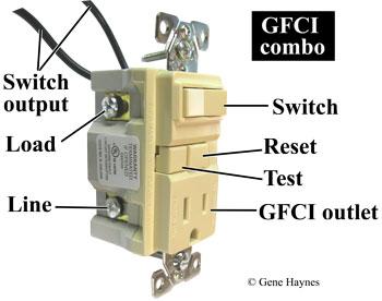 GFCI combo device