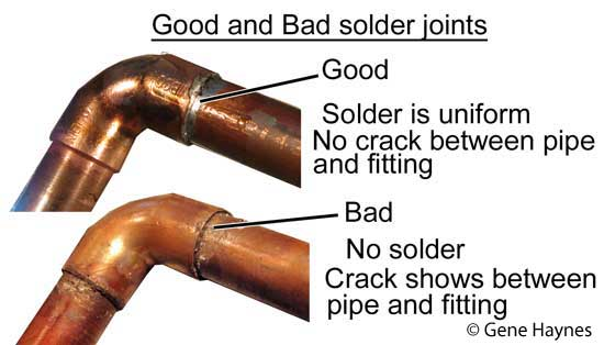 Good and bad solder joints