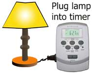 Timer with remote control
