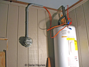 Install electric meter