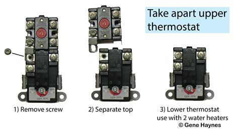 Take apart thermostats