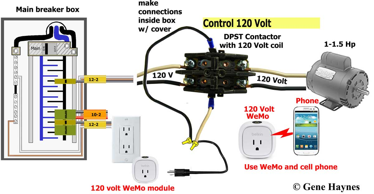 IMG_2203 contactor WeMo pump how to wire wifi 240 volt contactor wiring diagram at edmiracle.co