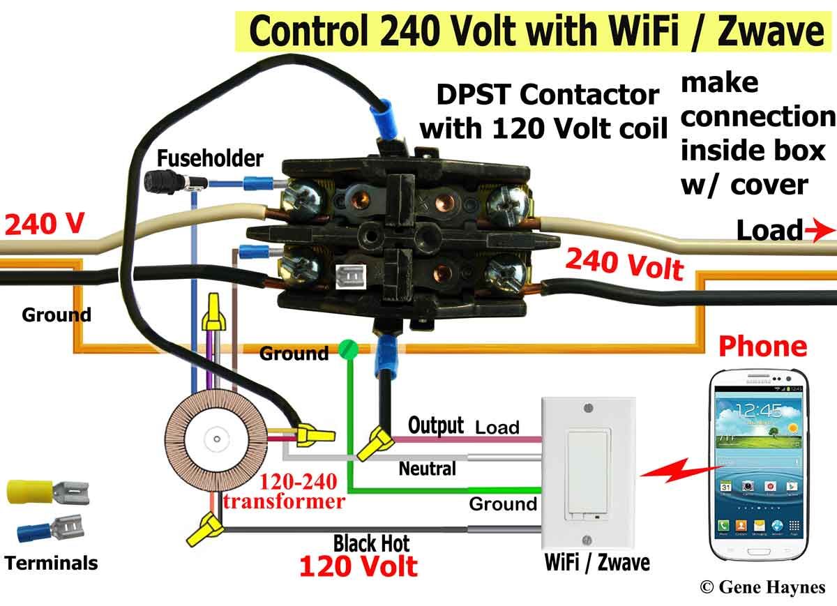 240 Vac Contactor Wiring | Wiring Diagram Ac V Coil Contactor Wiring Diagram on