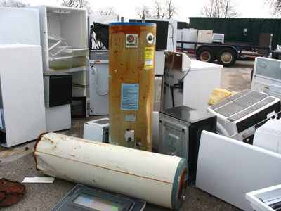 water heaters at recycle center