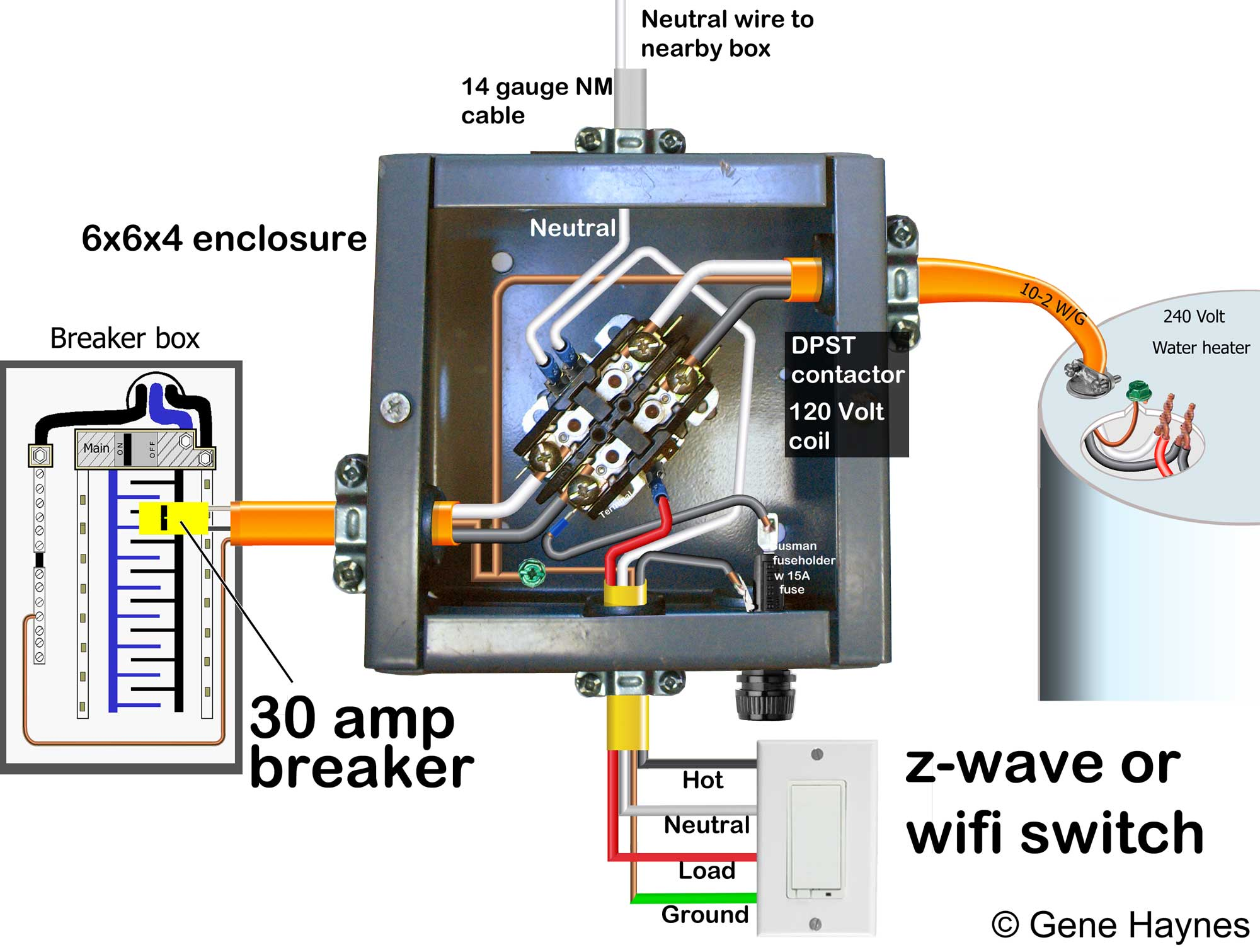 Step By How To Install Water Heater Timer Ground Off The Leg Of 12 Volt Pull Form Batteries In Series Larger Image With Neutral From Different Source This Plan Draws Hot One 240 And