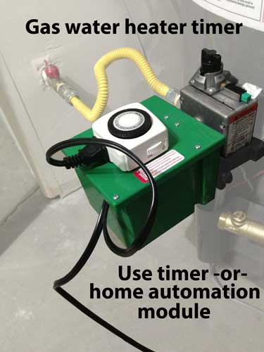 Gas water heater timer