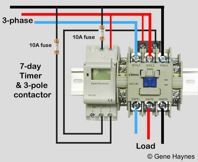 Contactor Wiring Diagram Heater : How to wire schneider lc d contactor