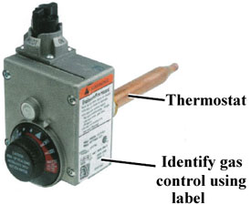 gas water heater themostat