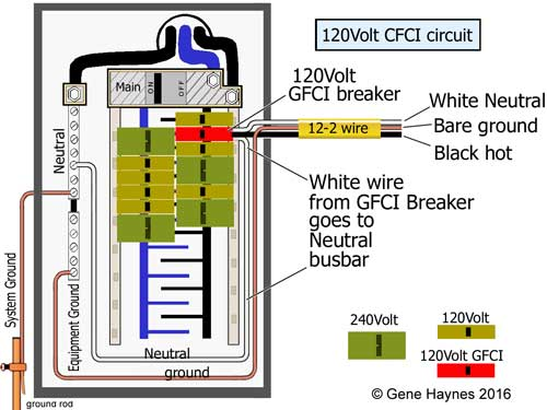 120 Volt GFCI breaker  sc 1 st  Waterheatertimer.org : wiring gfci breaker - yogabreezes.com