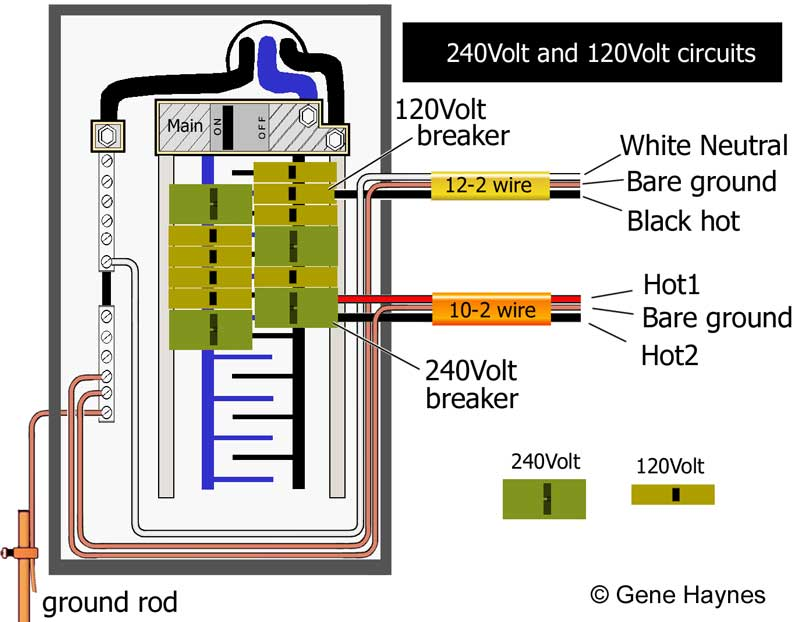 basic 240 120 volt water heater circuits rh waterheatertimer org 220V Wiring 3 Wires 220V to 110V Wiring-Diagram