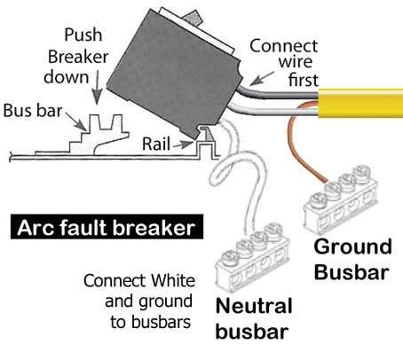 how to wire arc fault breaker rh waterheatertimer org wiring diagram for arc fault breakers installing arc fault breakers