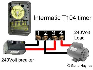 Intermatic T104 mechanical wiring 322 intermatic 4004 timer  at n-0.co