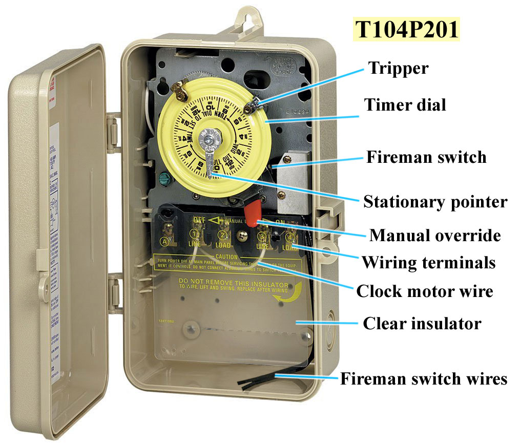 Intermatic T104P201 intermatic pool timers intermatic timer switch wiring diagram at panicattacktreatment.co
