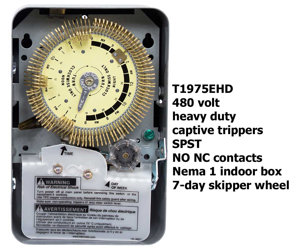How To Wire Intermatic T1905 T1975 Series Timers Switch Wiring Larger Image T1075ehd