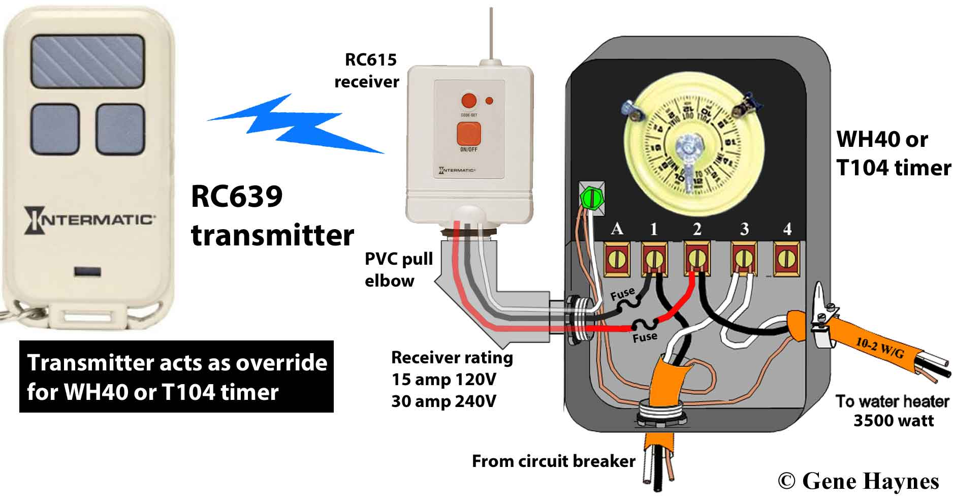 RC939 transmitter RC613 receiver WH40 or T104 timer ...