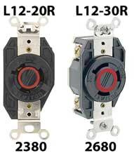 L12 480 volt 3-phase locking receptacle
