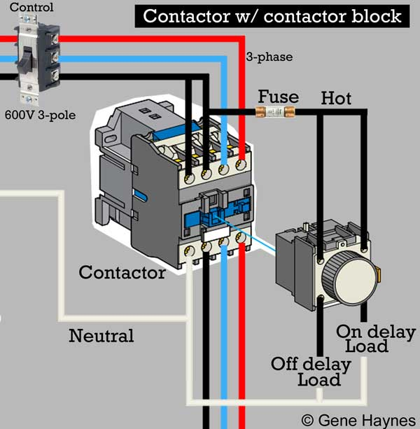How to wire contactor block 2 pole contactor wiring diagram Waterheatertimer.org