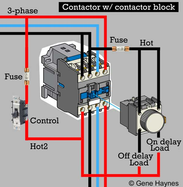 LA2 DT contactor block2 6 how to wire contactor block definite purpose contactor wiring diagram at bayanpartner.co