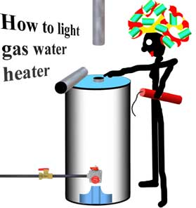 How to light gas water heater