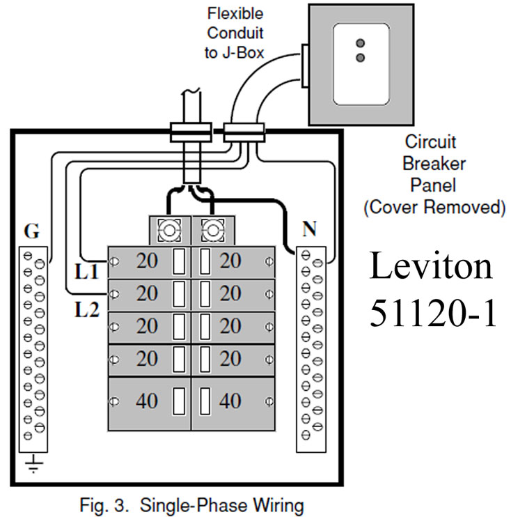 Leviton 51120 1 wiring how to wire whole house surge protector single phase panel diagram at edmiracle.co