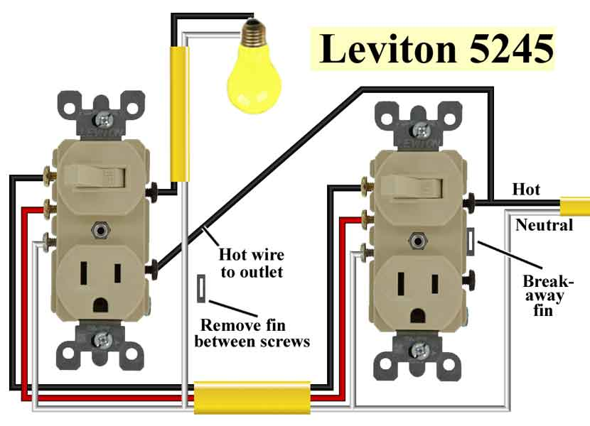 Famous Leviton Combination Switch Wiring Diagram Sketch - Electrical ...