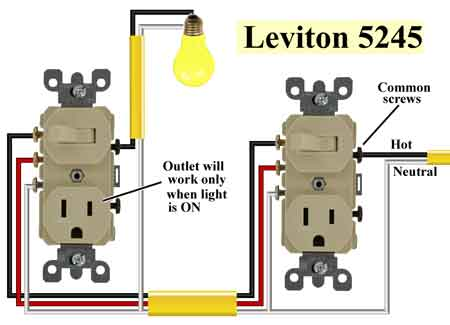 Leviton 5245 450 how to wire switches  at n-0.co