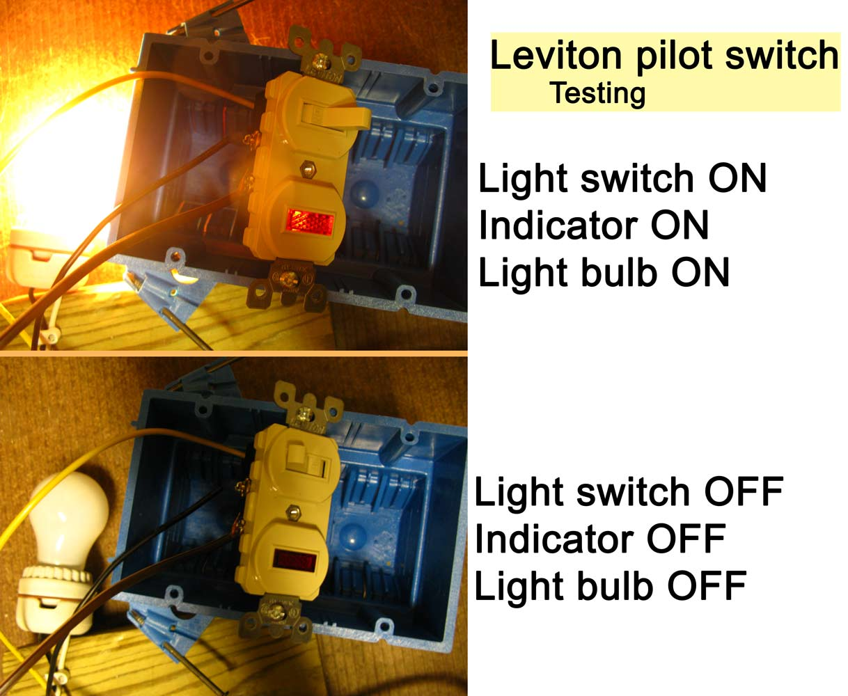 How To Wire Cooper 277 Pilot Light Switch Leviton Switches Wiring Diagram See Testing Photographs 1 2