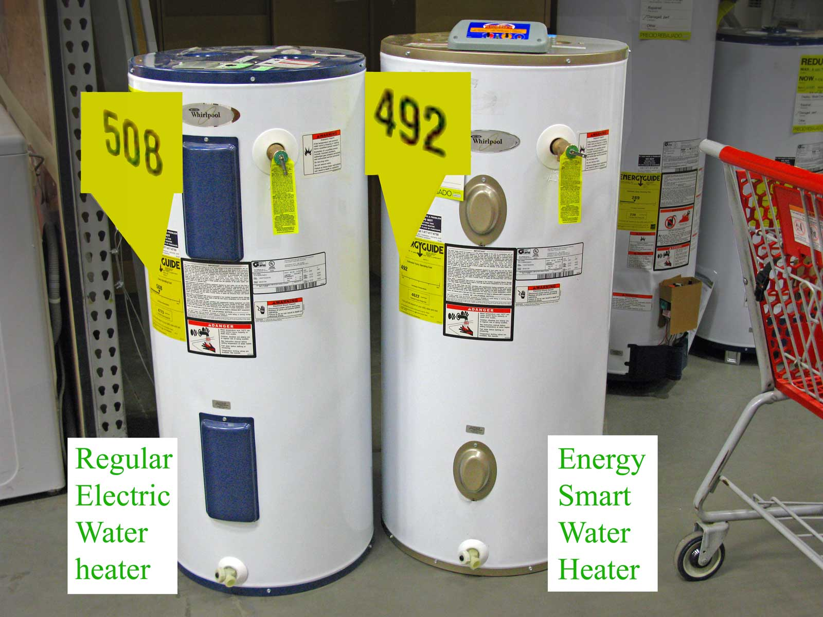 M23 107 compare 1400 whirlpool energy smart electric water heater 50 Gallon Gas Hot Water at eliteediting.co