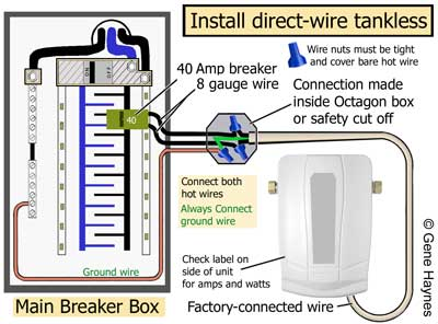 How to wire tankless electric